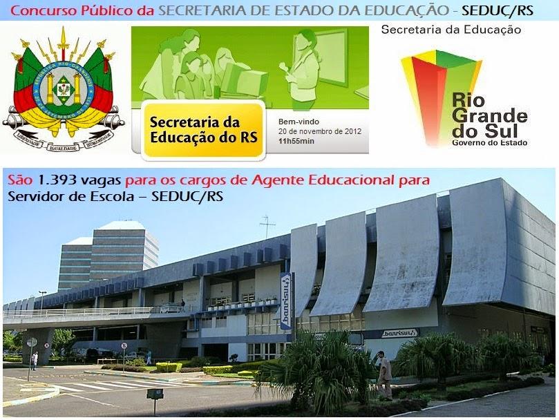 Apostila Concurso Público Secretaria de Estado da Educação do SEDUC/RS 2014.