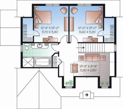 Plano Y Fachada De Casa Habitaci N De Dos Niveles Con 3