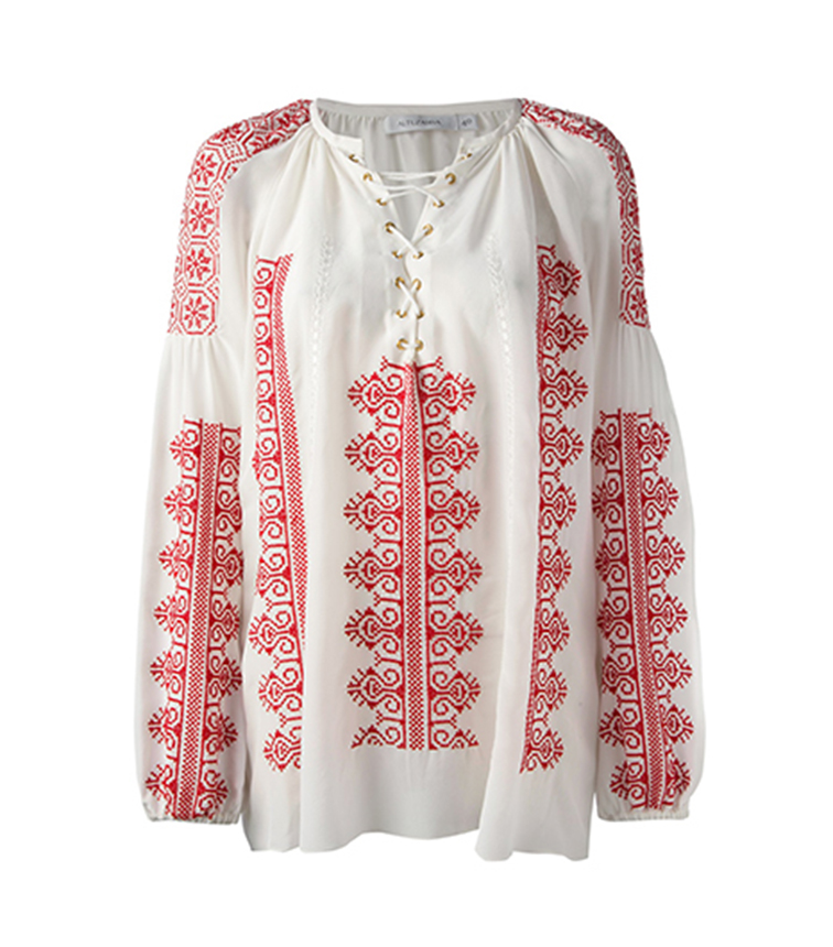 Altuzarra spring summer 2014 melody embroidered top