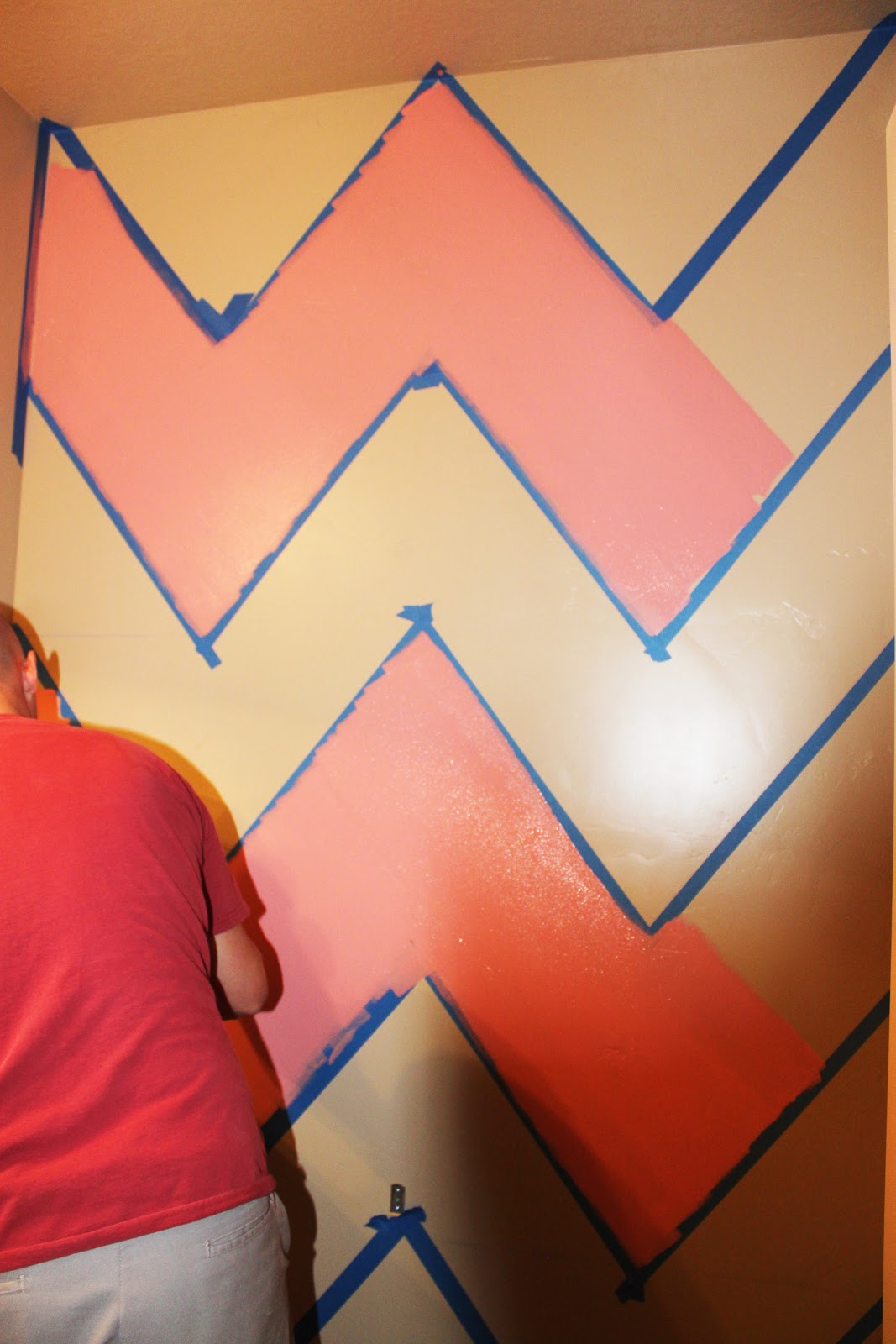 diy chevron bathroom wall dani marie blog diy chevron bathroom wall