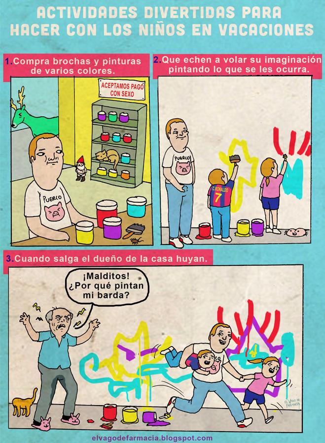 El Vago de Farmacia: Actividades para hacer con los niños en vacaciones