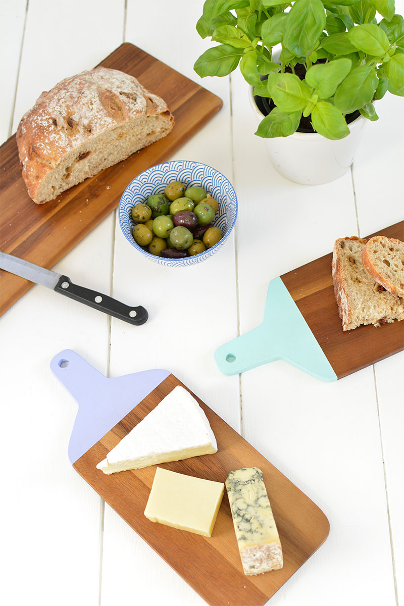 DIY painted cheese boards