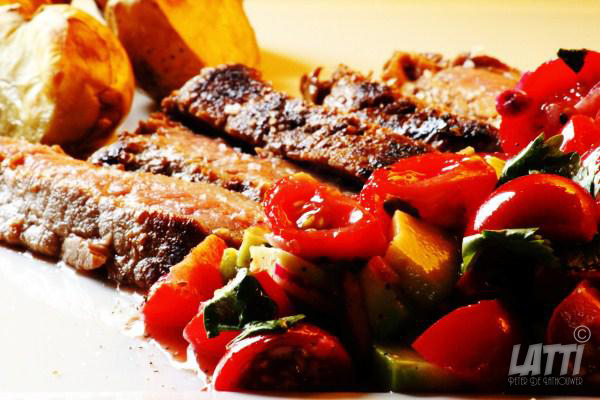 Steak met tomatensalsa