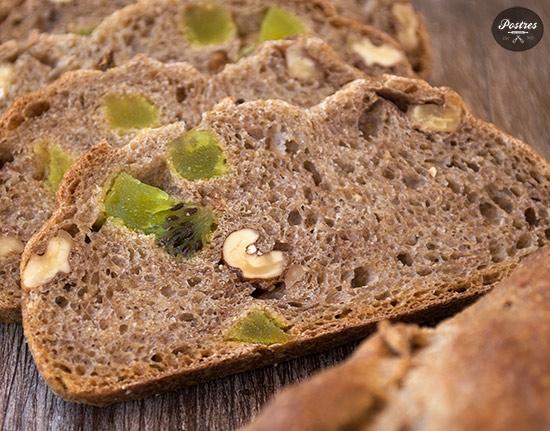 Pan, masas fermentadas, kiwi,nueces