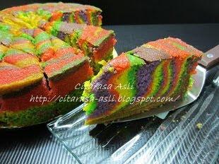 Rainbow Butter Moist Cake