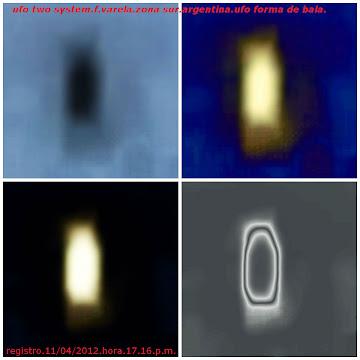 .ufo en forma de bala.