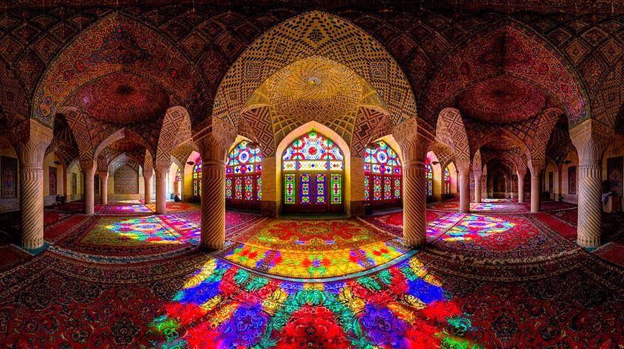rainbow, mosque