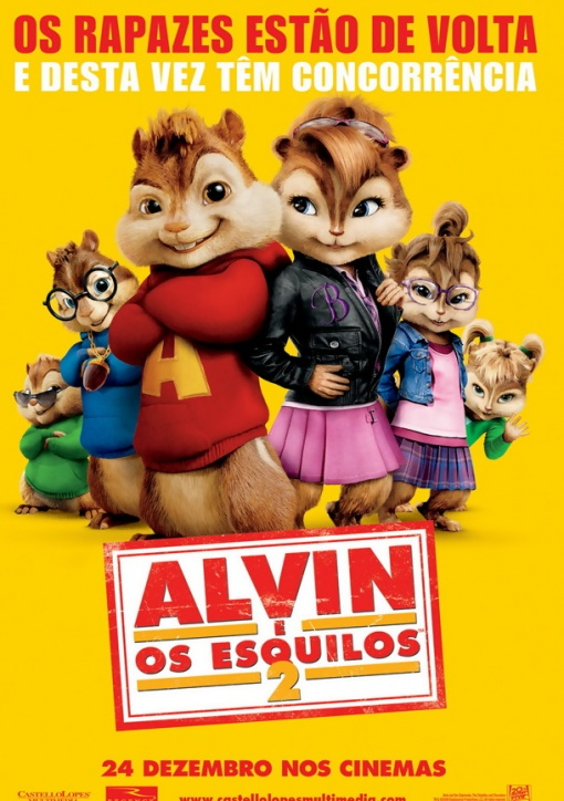 Alvin e os Esquilos 2 – Full HD 1080p