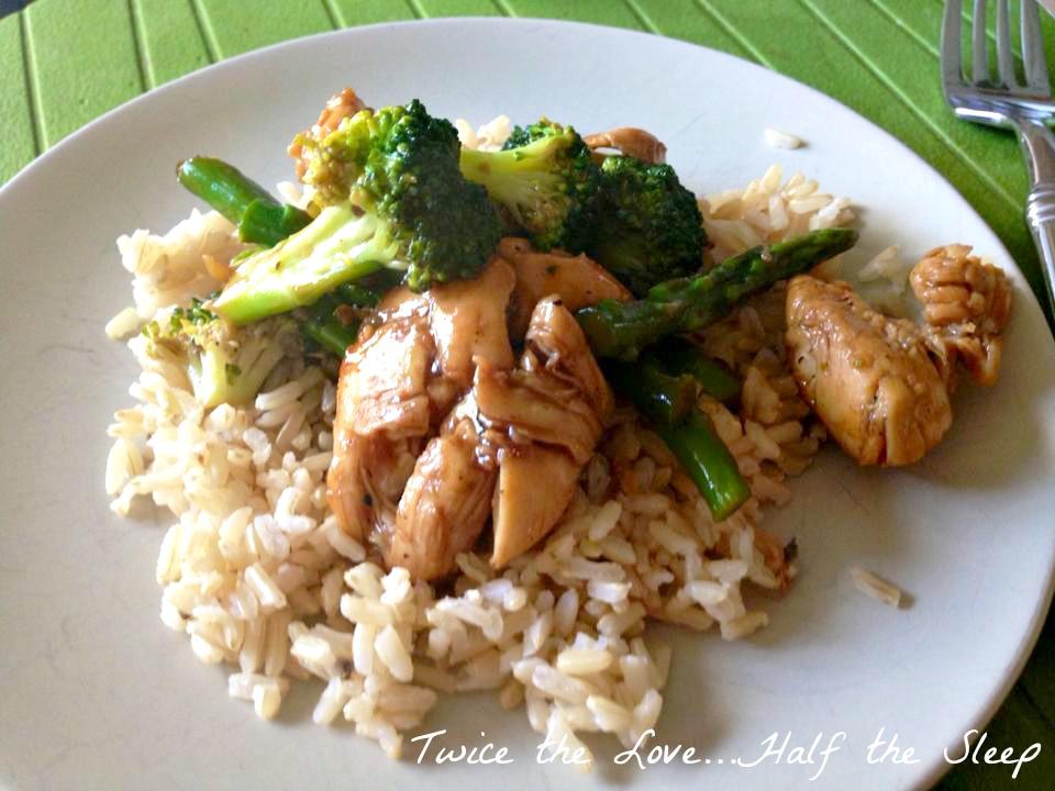 ... the love...half the sleep!: Chicken, Broccoli and Asparagus Stir Fry
