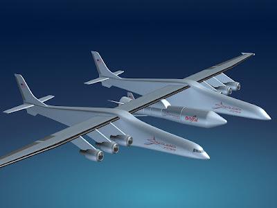 Stratolaunch Akan Menjadi Pesawat Terbesar di Dunia, Ini Penampakannya