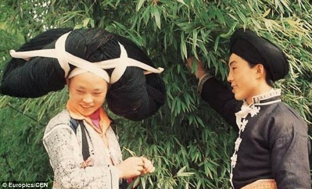 Miao woman and man