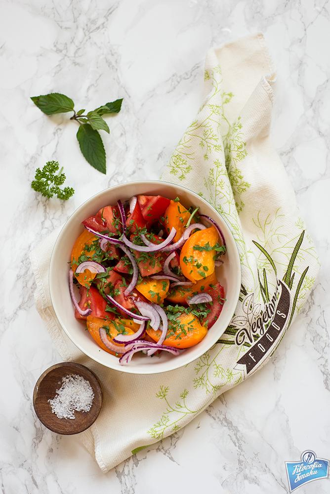 Sałatka z pomidorów prosta