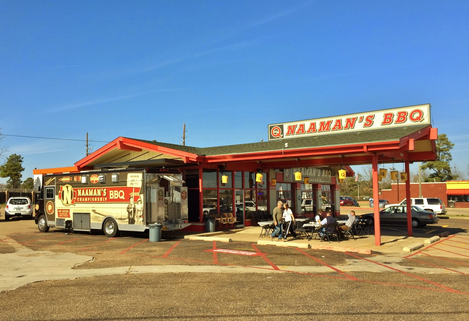 Naaman's old BBQ truck is still central in their new operation
