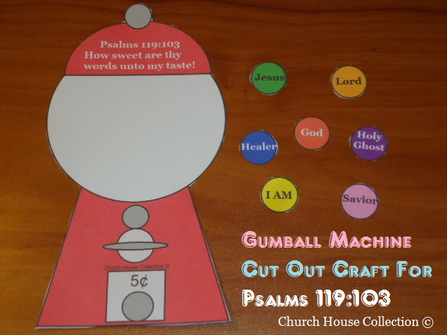 Church house collection blog gumball machine cut out for Kids crafts for church