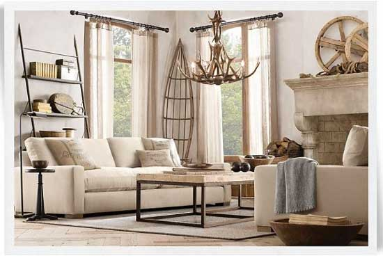 Rustic Chic Family Room creative juices decor: decorating with a monochromatic color