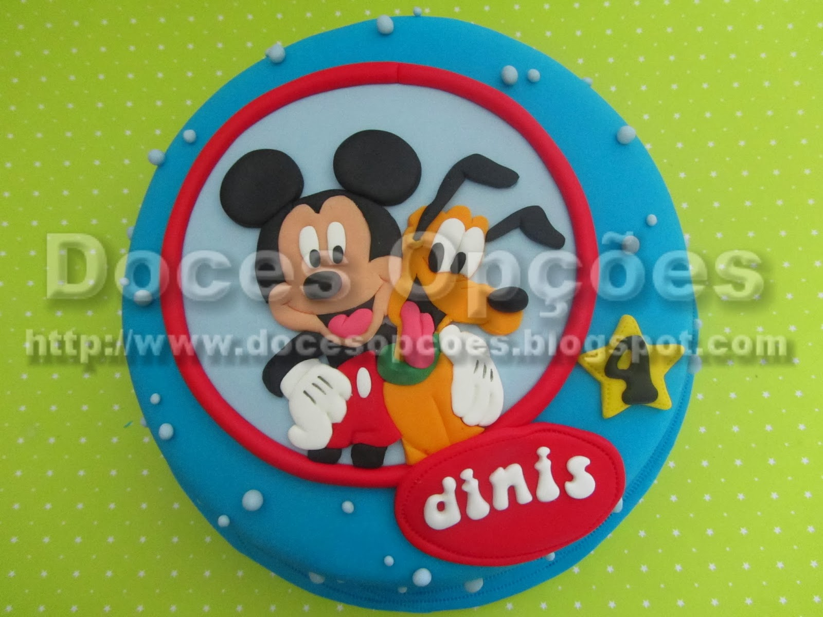 Bolo aniversário Mickey e Pluto