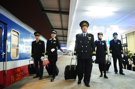 Viet Nam Railways has launched the first five-star express train after upgrading its service and the skills of the staff to meet the growing numbers of domestic and international passengers.