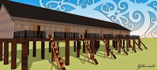 Desain Gambar Rumah Adat Dayak Kanayatn