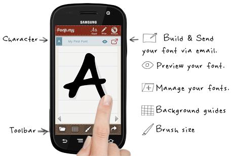 Cara membuat font dengan Android - font.my