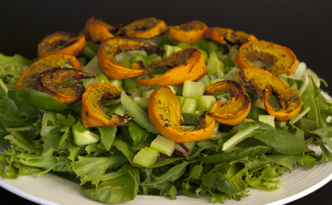 Roasted Pumpkin Salad Recipe — Dishmaps