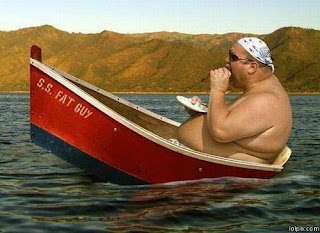 Gordo no barco