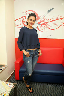 Actress Rakul Preet Singh Pictures in Jeans Gallery at Big FM  1.JPG