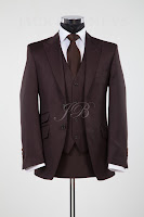 brown wedding suit, lounge suit, vintage wedding suit hire from jack bunneys