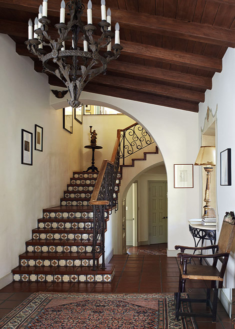 New home interior design spanish style home in hollywood Spanish home decorating styles