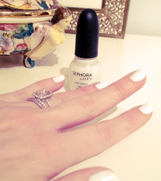white nail polish