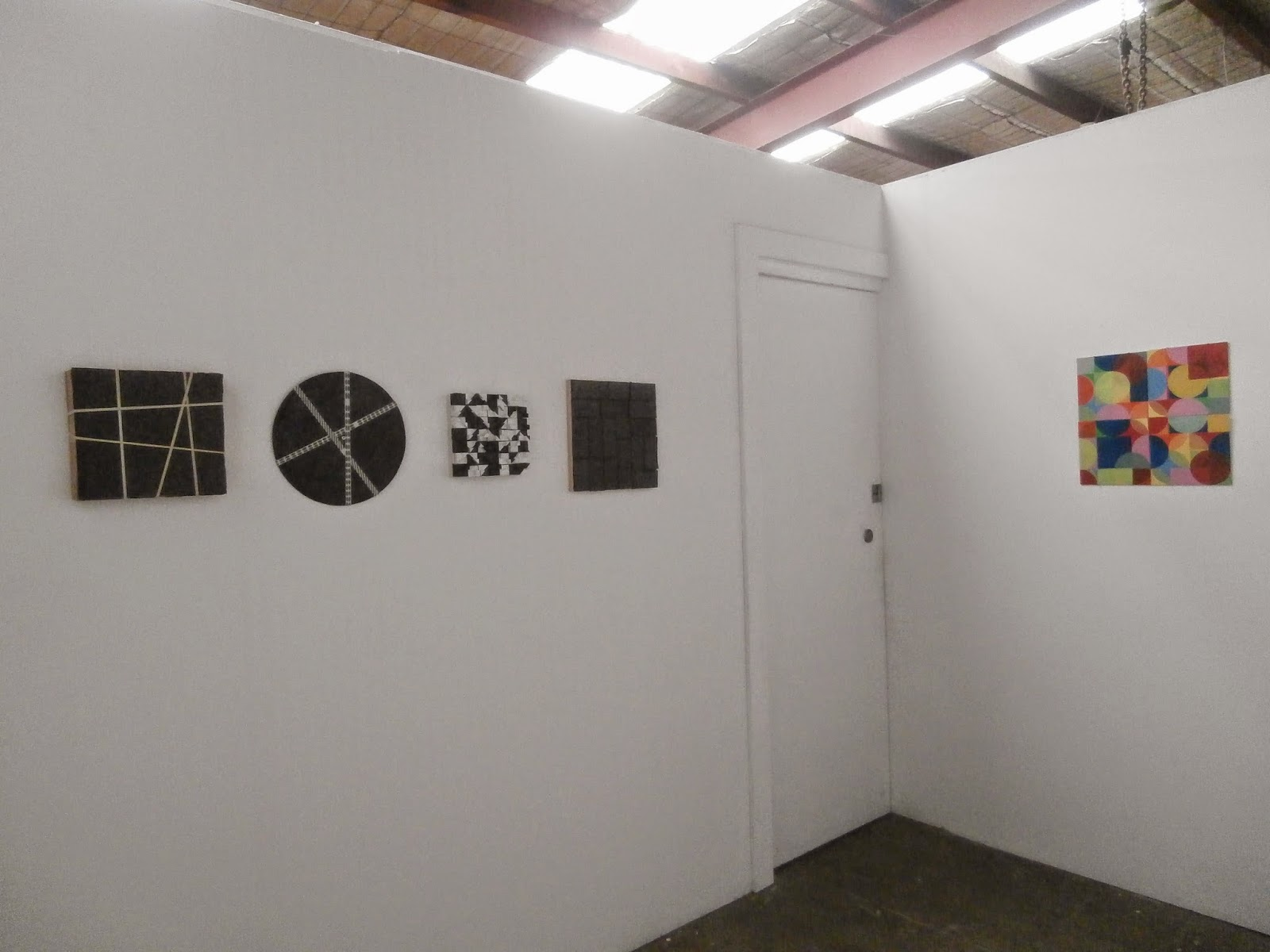 circle installation, directors show, marlene sarroff, kate mackay, painting, factory 49, geometric abstraction, non objective
