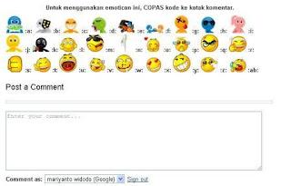 Cara Membuat Emoticon Di Kolom Komentar Blog