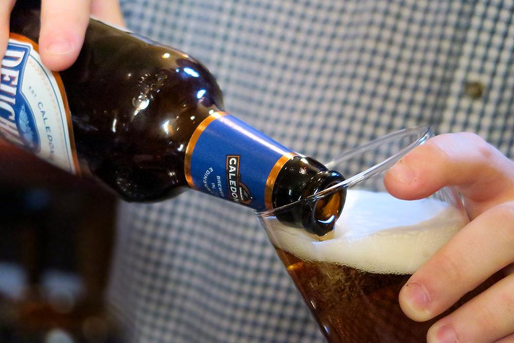 Bottle of Deuchars IPA at Malmaison Leeds Brasserie