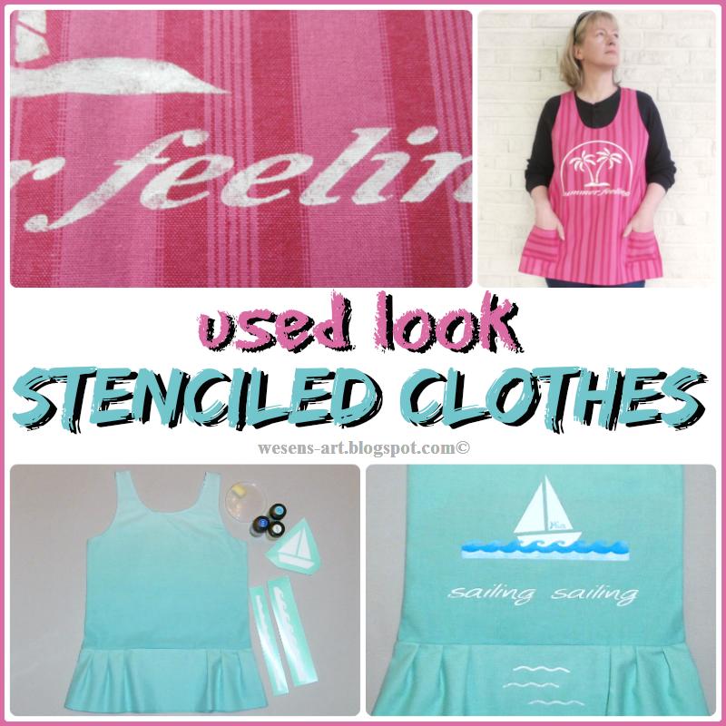 StenciledFabric  wesens-art.blogspot.com
