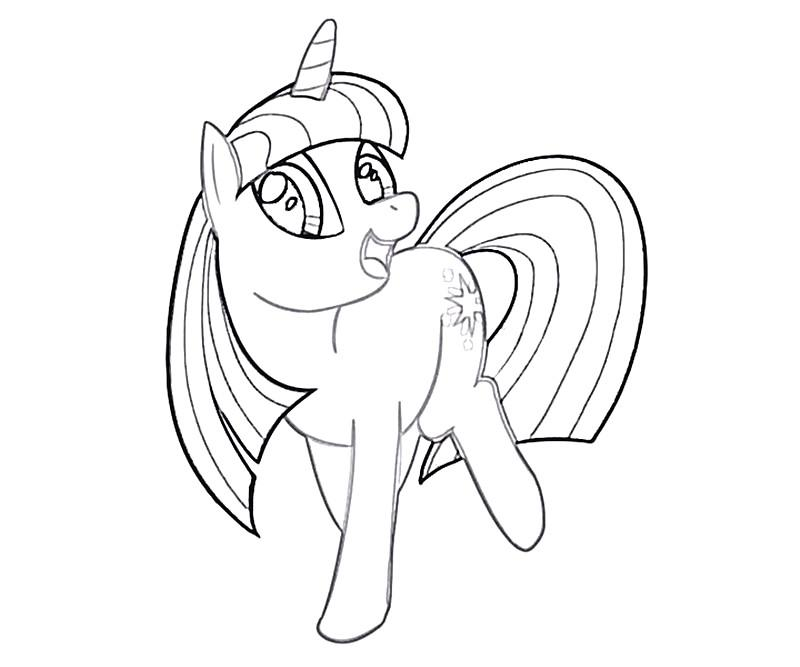 #22 Twilight Sparkle Coloring Page