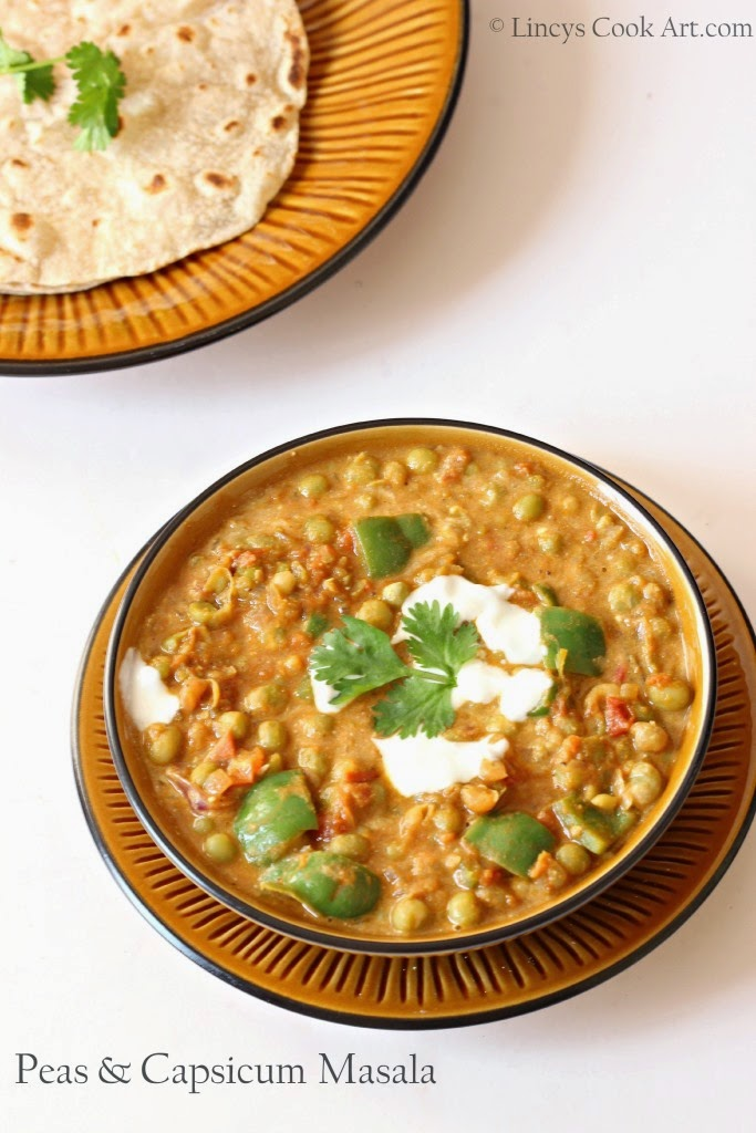 Peas and Capsicum Masala Curry