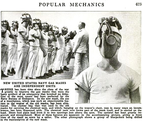 New United States Navy Gas Masks Are Independent Units