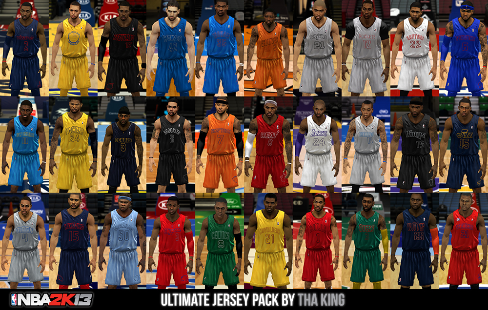 Nba 2k13 Ultimate Jersey Pack All Teams Nba2k Org