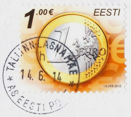 stamp, euro, coin, estonia