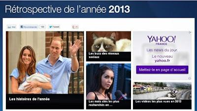 Top des recherches 2013 sur Yahoo