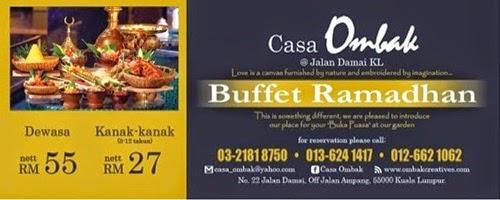 informasi Buffet Ramadhan Casa Ombak, Casa Ombak tempat terbaik berbuka puasa di Kuala Lumpur, konsep dan menu Buffet Ramadhan Casa Ombak, harga bayaran Buffet Ramadhan Casa Ombak, sebab memilih Buffet Ramadhan Casa Ombak, lokasi Buffet Ramadhan Casa Ombak, peta Buffet Ramadhan Casa Ombak, cara menghubungi Buffet Ramadhan Casa Ombak.