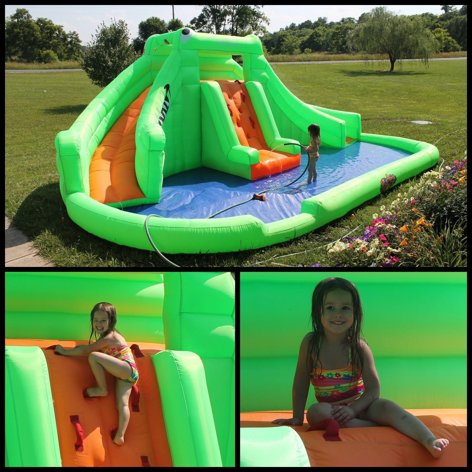 blast zone crocodile isle inflatable water park and slide