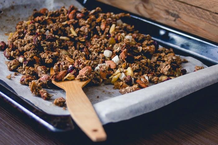 banana tropicana tropical granola healthy breakfast recipe