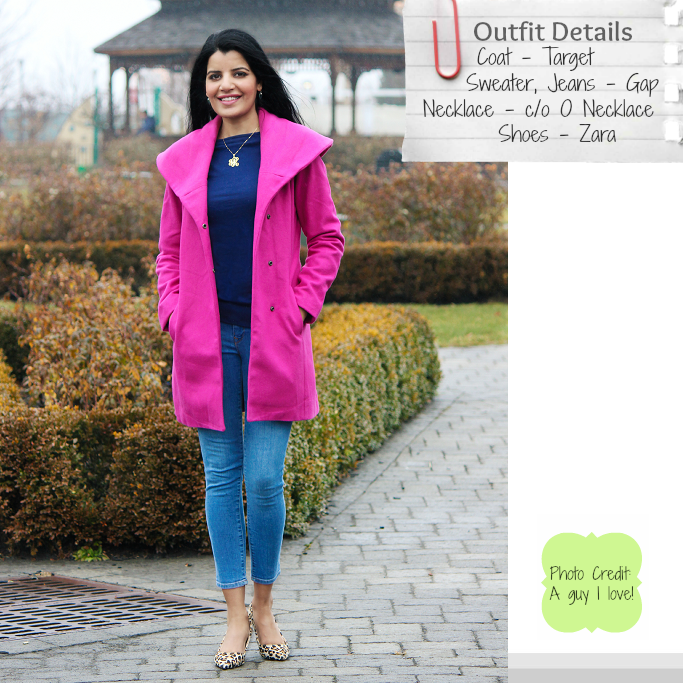 Hot Pink Coat, Shawl Collar Coat, Pink Coat for winter, Bright pink coat, Target wool coat, Pink Coat