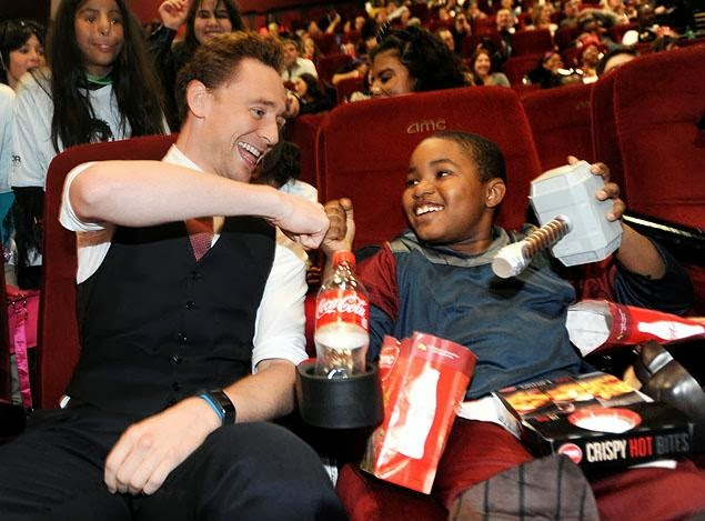 Tom Hiddleston Thor 2 Kids