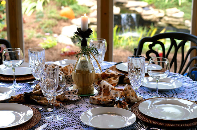 Fall, East Tennessee, Pumpkins, Mums, Gourds, Champagne, Individual Beef Croustades with Boursin & Mushrooms, Blueberry, Apple and Coconut Crumble, Coconut Ice-Cream,