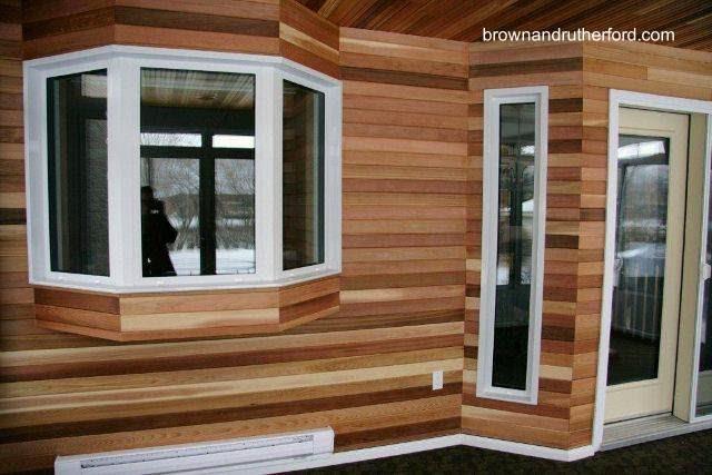 Siding de madera de cedro