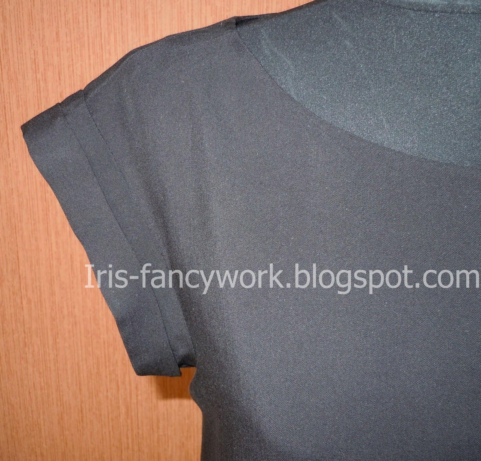 Как сшить футболку со спущенным рукавом