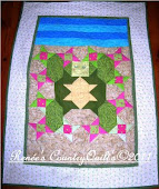 Tybee Turtle Whimsical Art Quilt