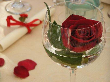 Decorar la mesa con copas precioso decora y - Copas decoradas con velas ...