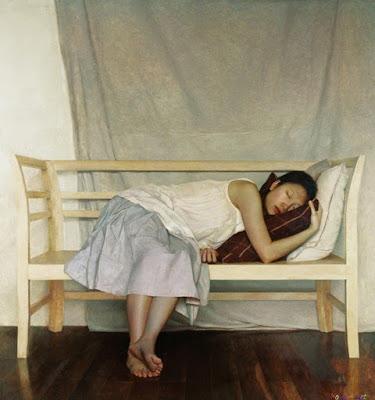 Oleos de Mujeres Chinas Hiperrealismo Lai Yuan